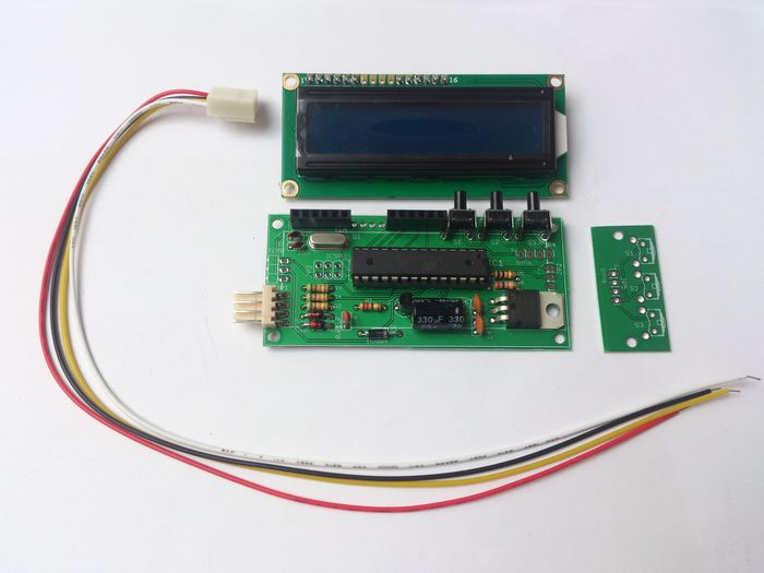 KIT: mpguino, display, socket with 20cm wires, button-board